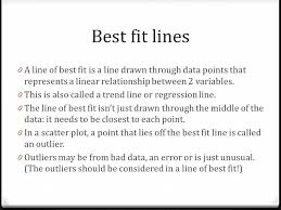 line of best fit slope and y intercepts map4c best fit lines 0