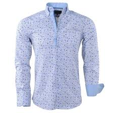 design hemd gasparo herren hemd mit blumen design 2 knopf kragen slimfit