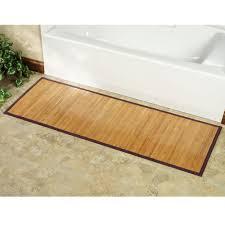 Bamboo Shower Floor Rugs For Bathroom Floor