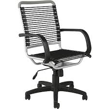 Office Bungee Chair Euro Style 02556 Bungee Cord High Back Desk Chair With Fixed Arms