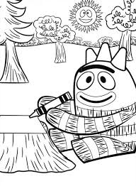 brobee drawing crayon yo gabba gabba coloring