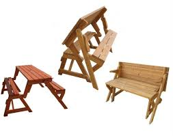 picnic table converts to bench convertible garden bench to picnic table convertible garden bench to