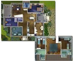 Big Houses Floor Plans Mod The Sims Big Family Small Budget 5 Bedroom House Under 50k