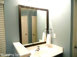 Wooden Bathroom Mirror Wood Bathroom Mirrors Laughingredhead Me