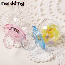 pacifier shaped candy meidding 12pcs lovely pacifier shape plastic candy boxes