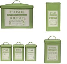 17 lime green kitchen canisters new large retro enamel