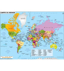 French Language Countries - buy french world map carte de monde online