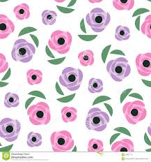 Decorative Flowers by Seamless Floral Pattern Cute Spring Flowers Background