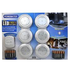 led wireless puck lights with remote 6 pk sam s club