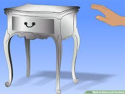 Silver Leaf Nightstand How To Silver Leaf Furniture With Pictures Wikihow