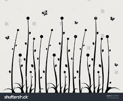 swirl floral wall sticker background template stock vector swirl floral wall sticker background template element abstract flower with grass vector
