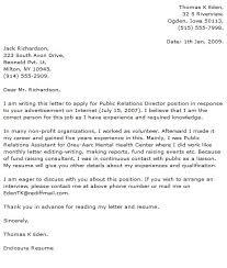 public relations cover letter jvwithmenow com