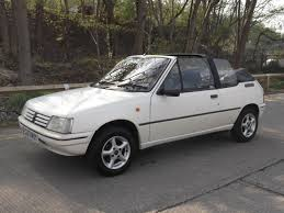 peugeot convertible used peugeot 205 cj junior convertible for sale in huddersfield