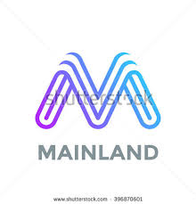 letter m logo design vector template stock vector 396870601
