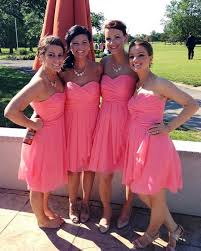 popular coral dress for bridesmaid buy cheap coral dress for