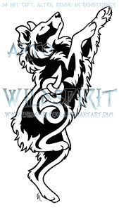 australian shepherd illustration australian shepherd melody knot tattoo by wildspiritwolf on deviantart
