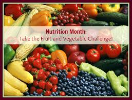 fruit vegetable challenge nutrition month