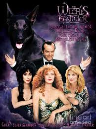 australian kelpie the witches of eastwick poster painting