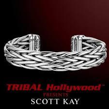 sterling silver woven bracelet images Mens sterling silver bracelets tribal hollywood jpg