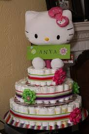 kitty diaper cake timelesstreasure tiny tots