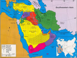 asain map map of southwest asia pointcard me