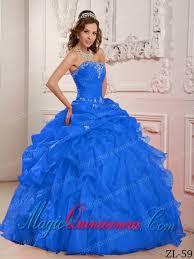 best quinceanera dresses blue strapless floor length organza beading and ruffles best