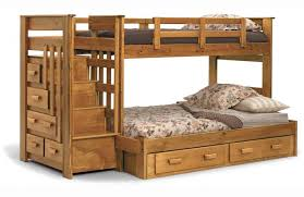 Wood Frame Bunk Beds Comely Cool Beds With Bunk Bed Decoration Combined