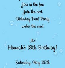 pool party invitation wording pool party invitation wording and
