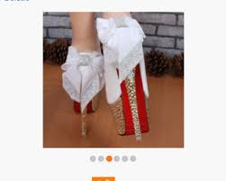 wedding shoes bottoms shoes white heels fancy heels bling shoes bow heels