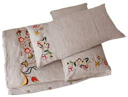 comfybedlinen u0027s innovative embroidered linen bedding for the