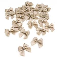 pearl ribbon gold pearl ribbon bows 30 pack hobbycraft