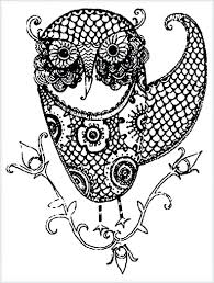 free roman mosaic colouring pages coloring of owls for adults
