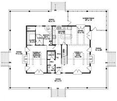 country cabins plans 654117 one and a half story 3 bedroom 2 5 bath country style