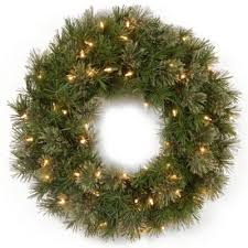 buy 24 lighted outdoor wreath from bed bath beyond