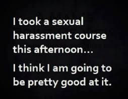 Sexual Harrassment Meme - took sexual harassment course this afternoon