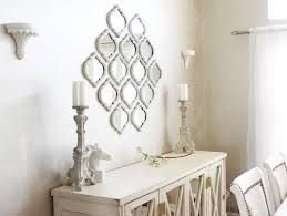 Wall Mirrors For Dining Room by Mirrors And Wall Decor Mirrored Chevron Print Wall Decorationbest