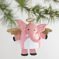 metal angel elephant dangle legs ornaments set of 3 world market