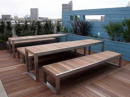 steel and wood table skop table for public areas by factory furniture