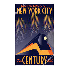 Travel Posters images Art deco new york city train travel poster studio gary c png