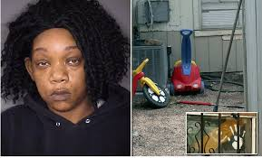 pregnant mom chained 2 year old boy in yard and tied 3 year old to