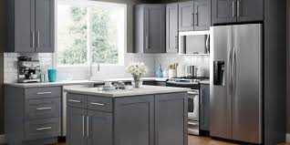 gray stained kitchen cupboards jsi lunar kitchen cabinets rta wood cabinets