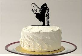 fishing wedding cake toppers made in usa fishing wedding cake topper personalized