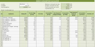 Household Budget Calculator Spreadsheet by Electricity Consumption Calculator Excel Templates