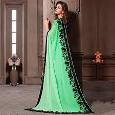 buy pista green party wear saree online women ethnic wear at