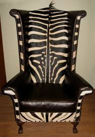 Zebra Chair And Ottoman Sporting Creations Zebra Chairs Ottoman