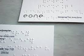 Business Cards Front And Back Everyday Accessibility Eone U0027s Braille Business Cards