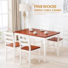 breakfast table with 4 chairs 5pcs pine wood dining set with 1 table 4 chairs breakfast kitchen