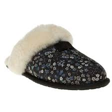 ugg sale womens uk cheap to buy black ugg scuffette liberty slippers ug uk 4877 for