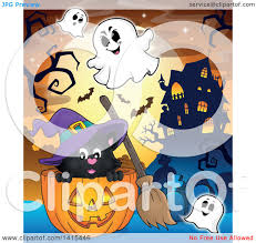 haunted mansion clipart clipart of a cute black halloween witch cat in a jackolantern in a