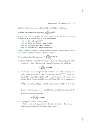 permutation and combinations
